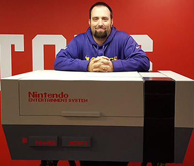 Jay Lane and his Nintendo coffee table.