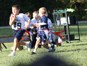 Here's Ethan (49) running the ball.