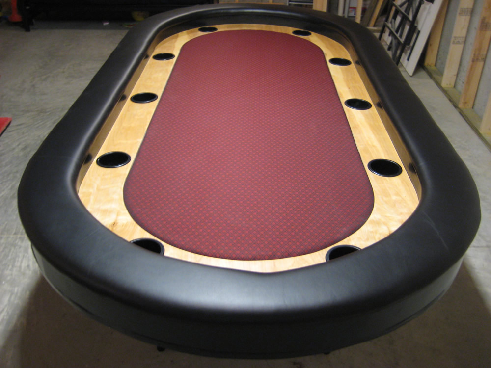 Red Raised Rail Poker Table - Made By Jay Lane in ...