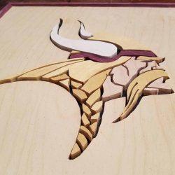 Minnesota Vikings Scroll Saw Art 3